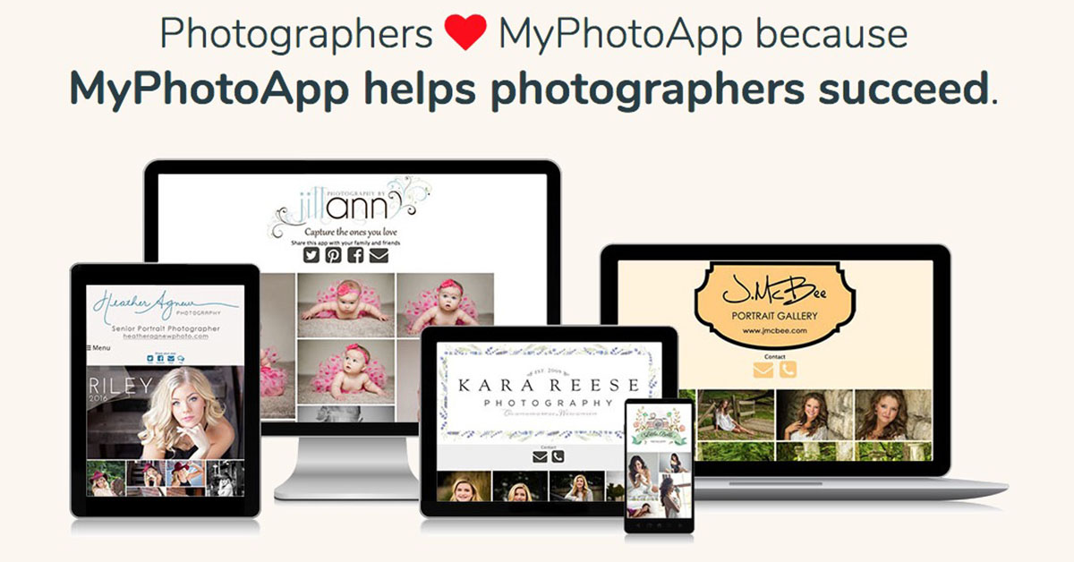 MyPhotoApp - Mobile App Builder for Photographers
